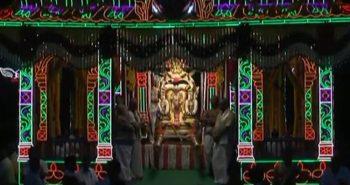 அலங்கரிக்கப்பட்ட தெப்பத்தில் ஸ்ரீதேவி பூதேவி :திருமலையில் குவிந்த பக்தர்கள்