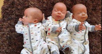 லாக்டவுன் நேரத்தில் ஒரே பிரசவத்தில் 3 குழந்தைகள் பெற்ற பெண்மணி